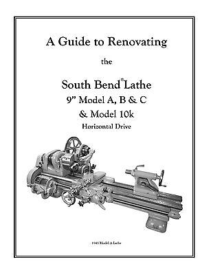 "Rebuild Manual for South Bend Lathe 9"" Models A B C plus model 10k or ""Light 10"""