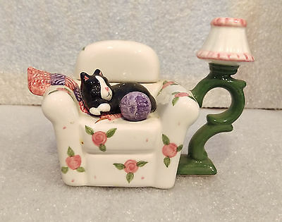 "2-Piece Vintage Creamer - ""Cat on a Chair"""