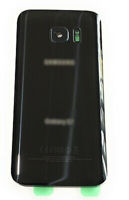 OEM Black Back Glass Cover Battery Door Replacement For Samsung Galaxy S7 G930