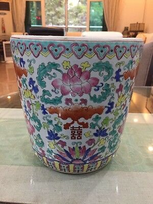 Fine Beautiful Chinese Famille Rose Porcelain Double Happines Pot