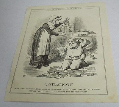 Antique Print 1884 Punch Or The London Charivari 'distraction'