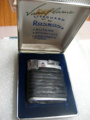 Vintage Lighter Ronson Liteguard Varaflame in case,1950