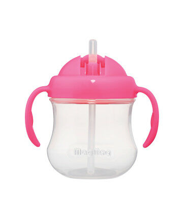 NEW Pigeon - Mag Mag Step 3 Straw Cup - Pink from Baby Barn Discounts
