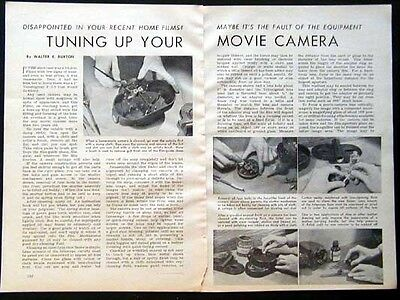16mm Vintage Movie Camera Tune up 1944 How-To article INFO