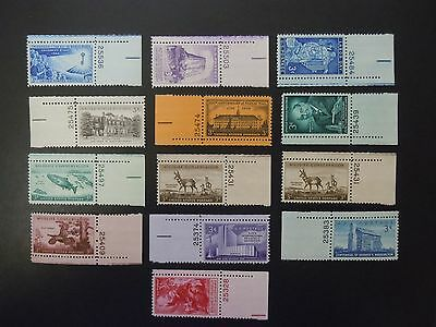 1956 US Commemorative Year Complete Set Plate # Singles 1073-1085  MNH