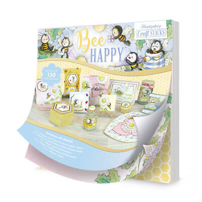 Hunkydory Crafts Bee Happy Craft Stack Paper Pack STACK006