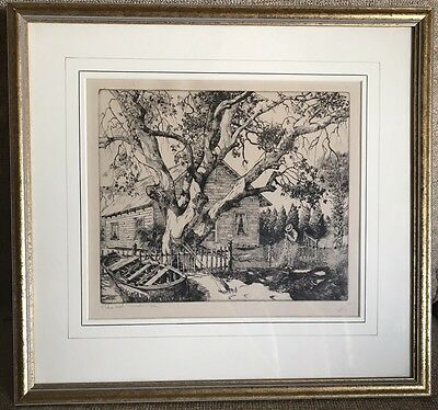 "W.R.Locke ""The Net Mender"" Limited Edition Signed Original Etching"