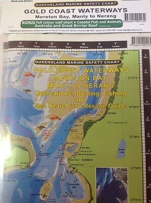 Camtas Marine Safety Chart Gold Coast Waterways: Moreton Bay, Manly To Nerang