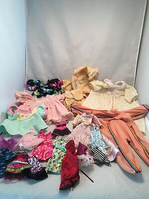 Lot Of Assorted  Size & Style Vintage And Modern Doll Clothes CPK, Barbie Etc.