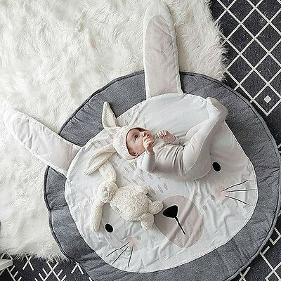 Newborn Kid Floor Mat Baby Crawling Blanket Cotton Padded Round Carpet Play Rug