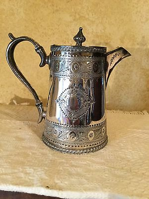 ANTIQUE VICTORIAN THOMAS OTLEY SILVER PLATED TEA OR COFFEE POT SHEFFIELD Pretty