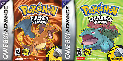 Pokemon Fire Red and Leaf Green Combo for Gameboy Advance (Nintendo Game Boy...