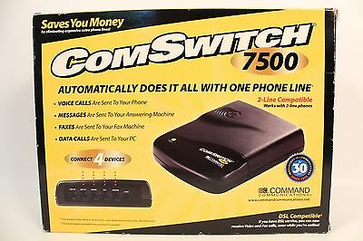 Command Communications Comswitch 7500 4 Port Line Sharing Automatic Switch W/box