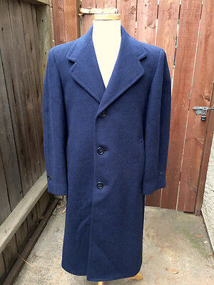 Vintage 1930's 1940's Vibrant Blue Wool Coat Overcoat!