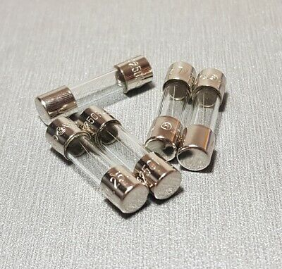 2A Glass Fuse M205 5x20mm Fast Blow 250V Pack of 10