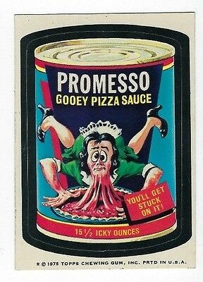 1975 Wacky Packages 14th Series 14 PROMESSO PIZZA SAUCE wb ex+