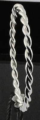 """Baby's Bangle Double Twist Solid Silver Plated Bangle by Creola 45mm - 1' 3/4"""""""