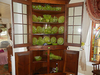 "ANTIQUE WALNUT CORNER CABINET  LARGE, 1800s  ""A REAL BEAUTY'"