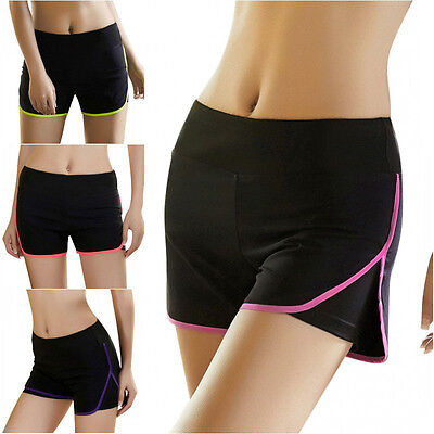 Women Sports Gym Workout Shorts Waistband Fitness Yoga Loose Running Short Pant
