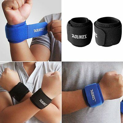 Women Men Sports Sweatband Wrist Band Yoga Workout Running Exercise Wristband