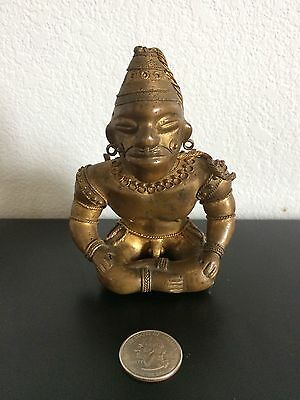 COLOMBIAN GOLD COPPER TUMBAGA - Rare - Sitting Warrior