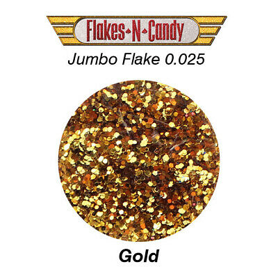 METAL FLAKES GLITTER JUMBO MONSTER (0.025) METAL FLAKE 30g GOLD