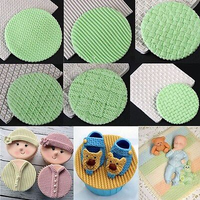 3D Knitting Texture Silicone Fondant Mold Chocolate Cake Decor Sugarcraft Mould