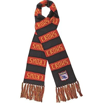 Afl Adelaide Crows Heritage Retro Bar Scarf - Brand New