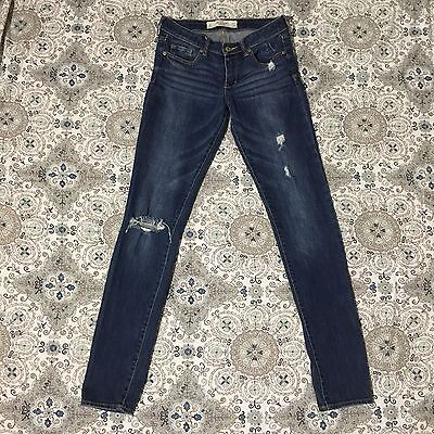 Abercrombie  & Fitch Distressed ripped jeans size 4L super skinny w27 L33