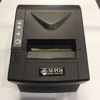 POS Thermal Receipt Printer 80mm Auto Cut Network Serial USB Point of Sale