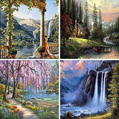 Home Wall Landscape Oil Painting By Numbers Kit Digital Art Decor DIY Pictures