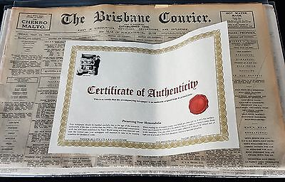 *The Brisbane Courier 1932 Paper*. certified authentic original