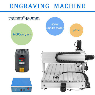 TOP 3 Axis Desktop CNC Router Engraver Milling Machine Engraving Drilling 6040