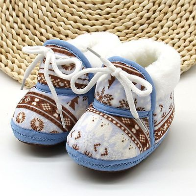 Infant Baby Kid Winter Warm Cotton Crib Shoes Toddler Girl Boy Soft Sole Sneaker