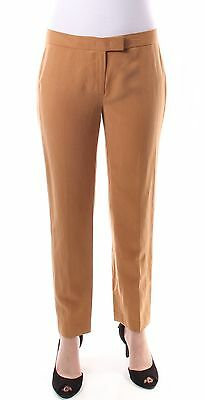 ANNE KLEIN $79 Womens New 1449 Brown Straight Leg Pants 4 B+B
