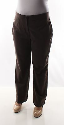 JM COLLECTION New Womens 1336 Brown          Straight Leg   Pants  14 B+B