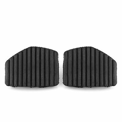 2x Clutch Brake Pedal Rubber Black For Peugeot Citroen 1007 207 208 301 307 407