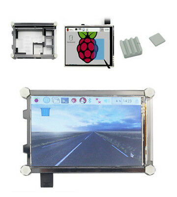 """New 3.5"""" LCD Display Touch Screen w/ 9-layer Case + Heatsink for Raspberry Pi 3"""