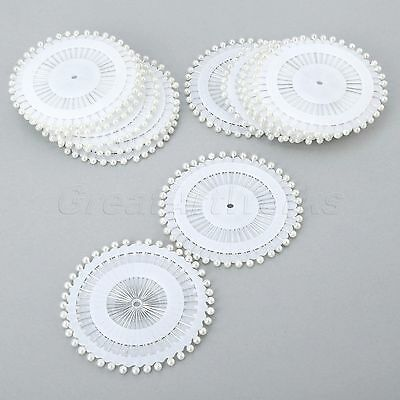 40/480pcs Round Headed Dressmaking Pearl Sewing Straight Pins White DIY Crafts