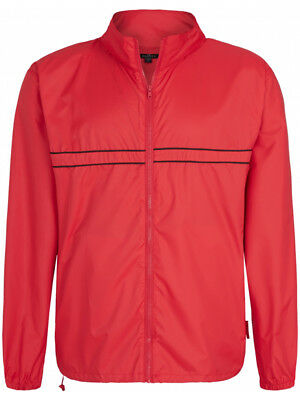 Sporte Leisure Edge Rain Jacket In Pocket - Pop Red/Black