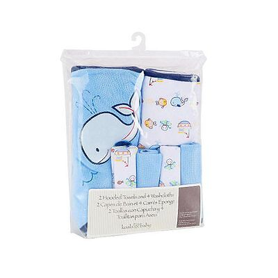 Koala Baby Towel & Washcloths - Whale - NEW
