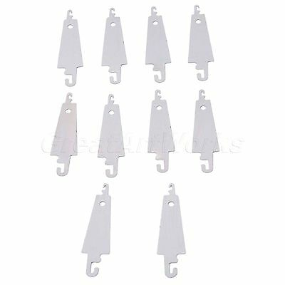 Steel Hook Needle Threader for Embroidery Cross Stitching Sewing DIY Craft 10pcs