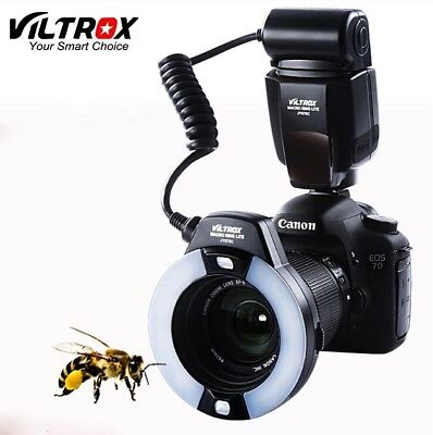 Camera E-TTL LED Macro Ring Close-Up Flash Speedlite for Canon 60D 7D 6D 5D3 70D