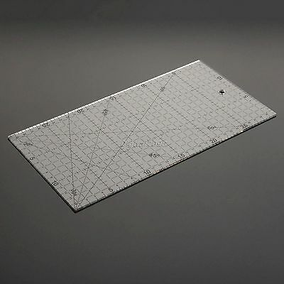 Quilting Sewing Patchwork Ruler Grid Cutting Tailor Craft Scale Handwork 30*15cm