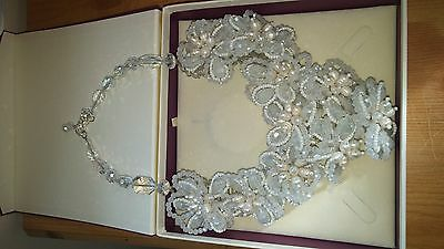Crystal and pearl wedding necklace/choker