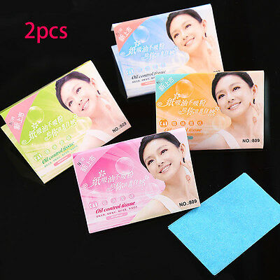 Hot 2x Oil absorbing sheets Blotting paper Design Random color Oil control Film
