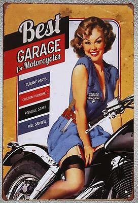 Targa Best garage stampa metallo vintage retrò pub bar poster arredo