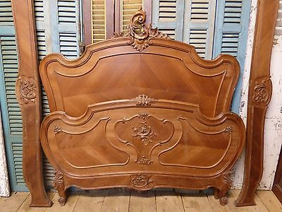 Antique Double French Bed - PAINTING LOT ? - ca103