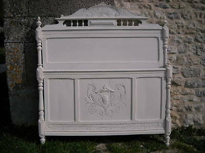 Painted Antique French Bed - Headboard / Footboard Only - km762