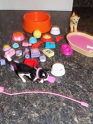 BARBIE PETS DOG AND Cat  with accessories